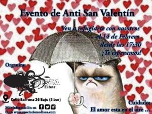Cartel de Anti San Valentín